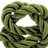 Trendy koord 10 mm weave Olive green