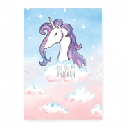 "Kaartjes voor sieraden ""you are my unicorn"" Multicolour pink-blue"