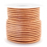 Leer DQ rond 3 mm voordeelrol Copper gold metallic