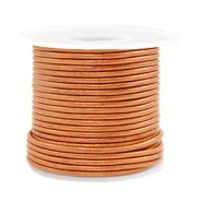 Leer DQ rond 2 mm voordeelrol Copper gold metallic