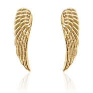 Musthave oorbellen studs angel wing Gold
