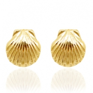 Musthave oorbellen studs shell Gold
