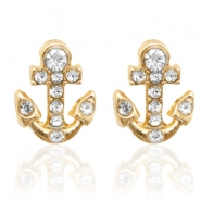 Musthave oorbellen studs anchor Gold