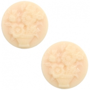 Cabochons basic camee 20mm boeket Light peach-beige