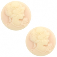 Cabochons basic camee 20mm Light peach-beige