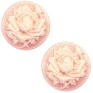 Cabochons basic camee 20mm roos Vintage rose-antique gold