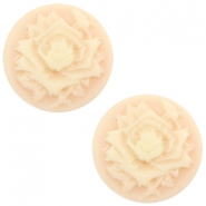 Cabochons basic camee 12mm roos Light peach-beige