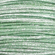 1.0mm Waxkoord metallic Leaf green