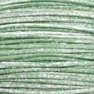 0.5mm Waxkoord metallic Leaf green