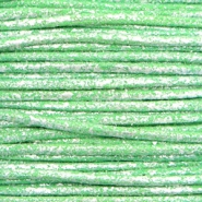 1.0mm Waxkoord metallic Parrot green