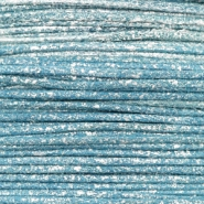 1.0mm Waxkoord metallic Cool blue