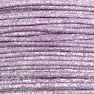 1.0mm Waxkoord metallic Lavender purple