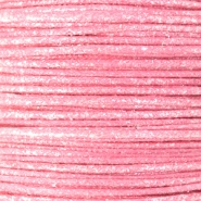 0.5mm Waxkoord metallic Light pink