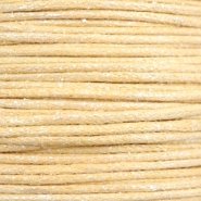 1.0mm Waxkoord metallic Yellow beige