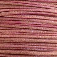 2.0mm Waxkoord metallic Mahogany red