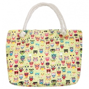 Trendy tas Beach bag owl Green