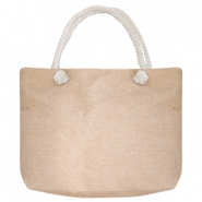 Trendy tas Beach bag Beige