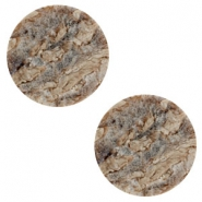 20 mm platte Polaris Elements cabochon Stone Look Anthracite-brown
