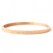 "Armbanden van Stainless steel Roestvrij staal (RVS) ""YOU ARE ONE IN A MILLION"" Rosé goud"