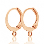 Oorringen DQ 12mm Rose gold plated