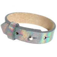 Armbanden Cuoio leer 15 mm voor 20 mm cabochon Holographic anthracite