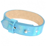 Armbanden Cuoio leer 15 mm voor 20 mm cabochon Holographic blue