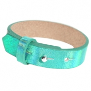 Armbanden Cuoio leer 15 mm voor 20 mm cabochon Holographic green