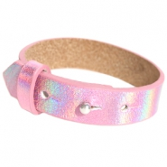 Armbanden Cuoio leer 15 mm voor 20 mm cabochon Holographic pink