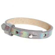 Armbanden Cuoio leer 8 mm voor 12 mm cabochon Holographic anthracite