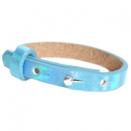 Cuoio armband voor kids 8mm voor 12mm cabochon Holographic blue