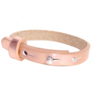 Cuoio armband voor kids 8mm voor 12mm cabochon Holographic rosegold