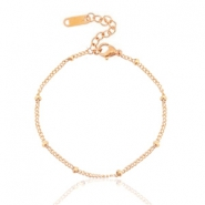 Armbanden van Stainless steel Roestvrij staal (RVS) ball Rose gold