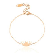 Armbanden van Stainless steel Roestvrij staal (RVS) crab Rose gold