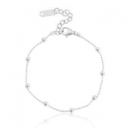 Armbanden van Stainless steel Roestvrij staal (RVS) ball chain Silver