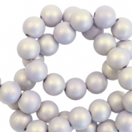 6 mm kralen van acryl matt Lilac purple-pearl coating