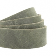 Plat leer 20 mm DQ Dark olive green