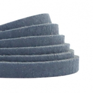 Plat leer 5 mm DQ Dark denim blue