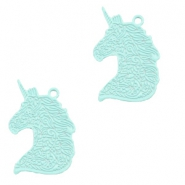 Bohemian hanger unicorn Fresh mint green