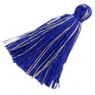 Basic kwastje goldline 3cm Royal blue