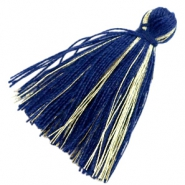 Basic kwastje goldline 3cm Dark blue