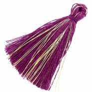 Basic kwastje goldline 3cm Aubergine purple