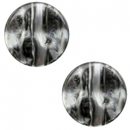 12 mm platte Polaris Elements cabochon Perseo Black silver
