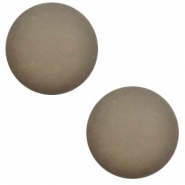 12 mm classic Polaris Elements cabochon matt Warm grey