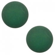 12 mm classic Polaris Elements cabochon matt Dark classic green