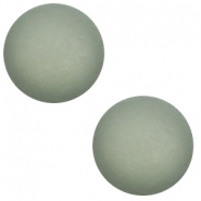 12 mm classic Polaris Elements cabochon matt Chinois green grey