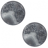12 mm platte Polaris Elements cabochon stardust Gallant grey