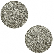 12 mm platte Polaris Elements cabochon Goldstein Warm grey