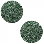 12 mm platte Polaris Elements cabochon Goldstein Dark classic green