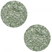 12 mm platte Polaris Elements cabochon Goldstein Chinois green grey