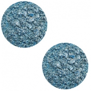 12 mm platte Polaris Elements cabochon Goldstein Harbour blue
